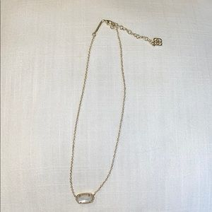 Kendra Scott gold with white stone necklace